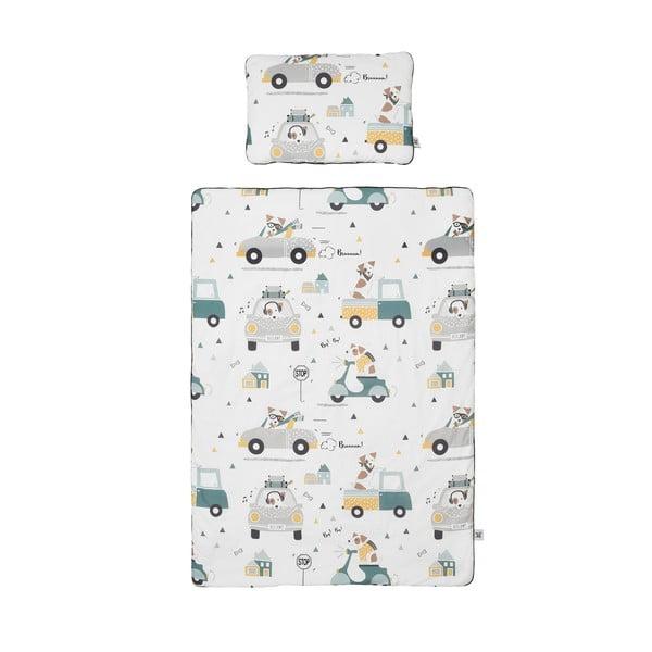 Zestaw bawełnianej kołderki dziecięcej z poduszką BELLAMY Jackie, 100x135 cm