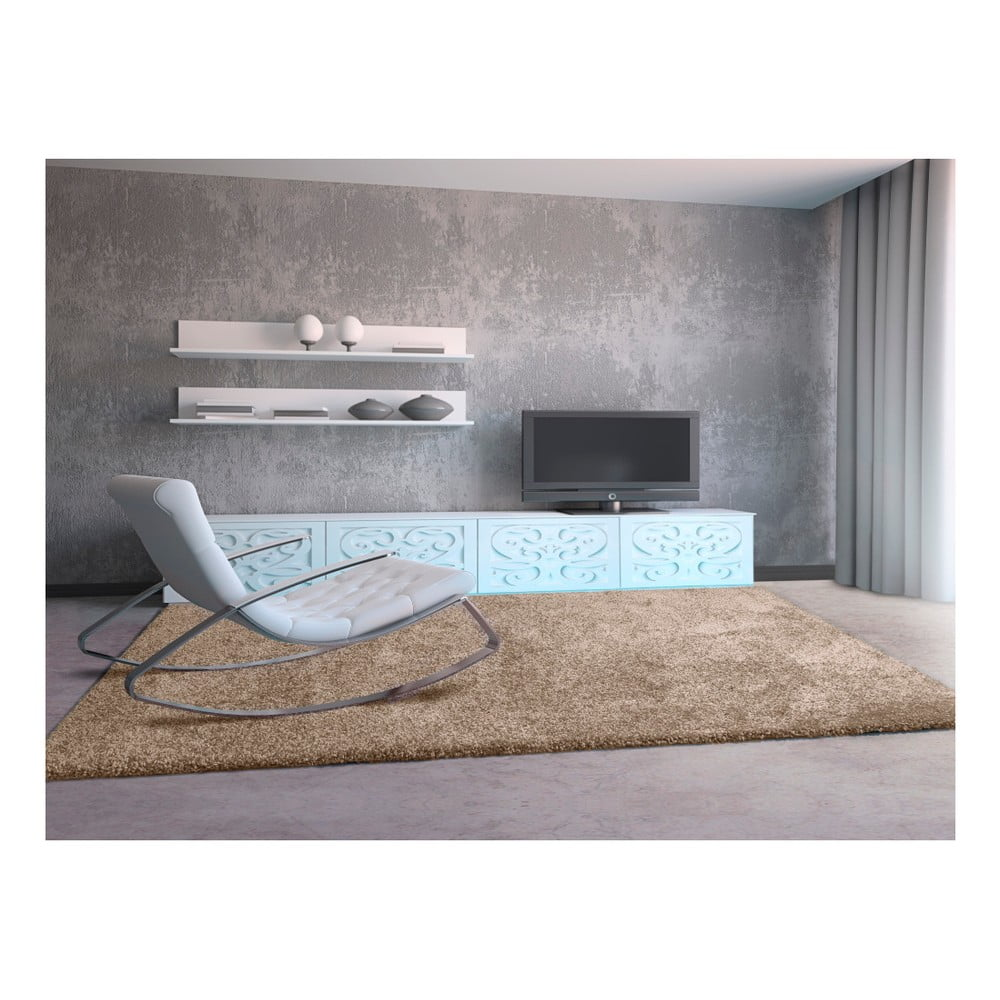 Produktové foto Světle hnědý koberec Universal Aqua Liso, 67 x 125 cm