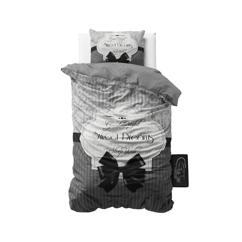 Povlečení Sweet Dreams 140x200 cm, šedé