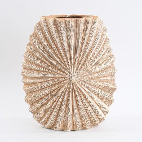 Keramická váza, béžová/hnědá, 24,5 cm