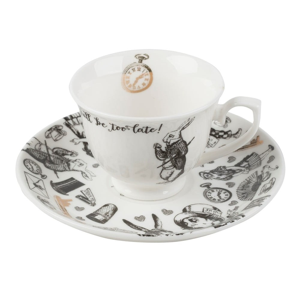 Porcelánový hrnek s podšálkem Creative Tops Alice in Wonderland, 100ml