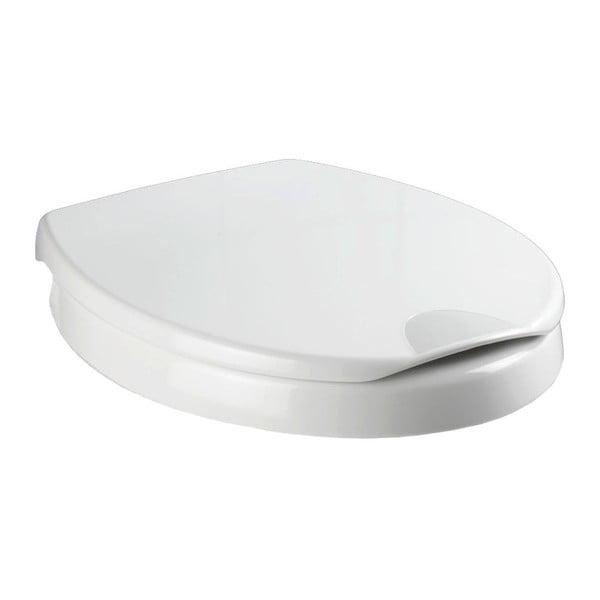 Mierne zvýšené WC sedadlo s jednoduchým zatváraním pre seniorov Wenko Secura, 43,5 × 37 cm