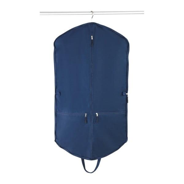 Modrý obal na oblek s 2 vreckami Wenko Business