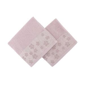Sada 2 růžových ručníků Papaya, 50 x 90 cm