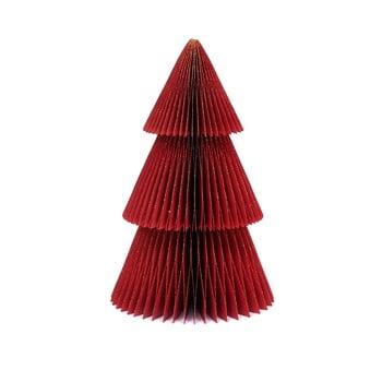 Decorațiune din hârtie pentru Crăciun, formă brad Only Natural, înălțime 22,5 cm, roșu imagine