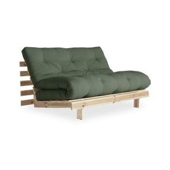 Canapea extensibilă Karup Design Roots Raw/Olive Green, verde poza