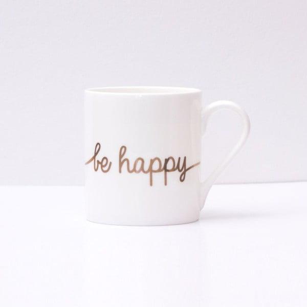 Porcelánový hrnek Be Happy Gold, 290 ml