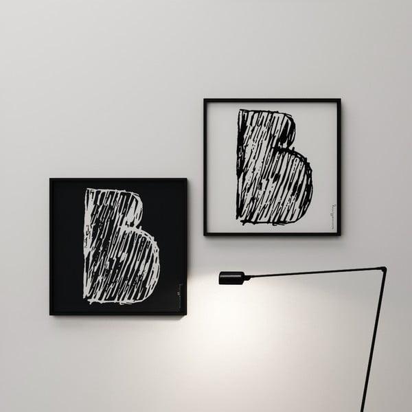 Plakát Litera B, 50x50 cm