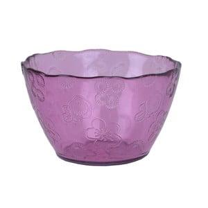 Růžová skleněná miska EgoDekorFlora, 14 cm