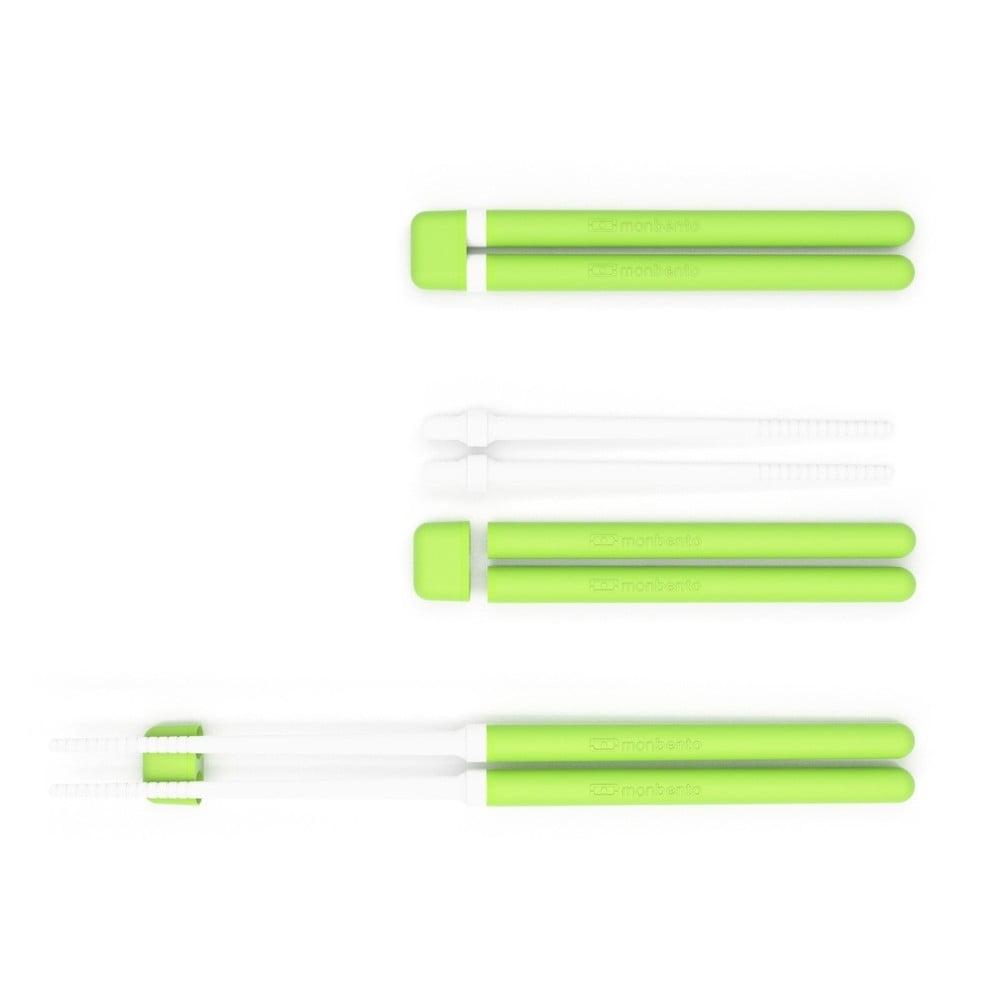 Zelené jídelní hůlky Monbento Pair