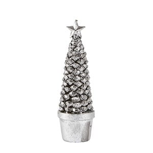 Dekorativní vánoční stromek ve stříbrné barvě KJ Collection Festive, výška 19 cm