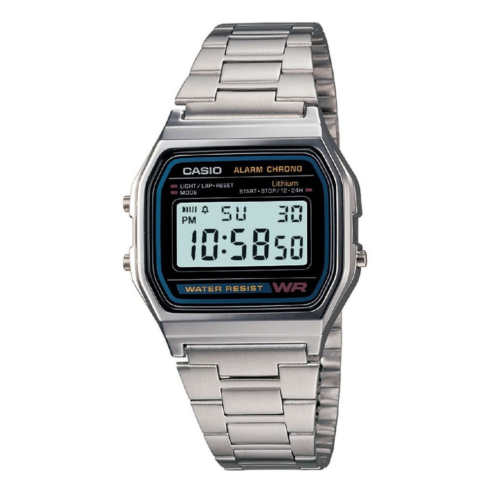 Pánské hodinky Casio Silver Black  7a21db38bd
