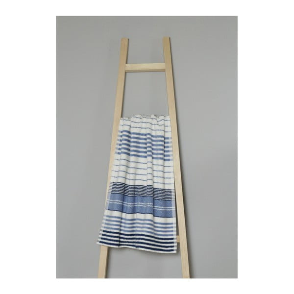 Modro-bílý bavlněný ručník My Home Plus Spa, 50 x 90 cm