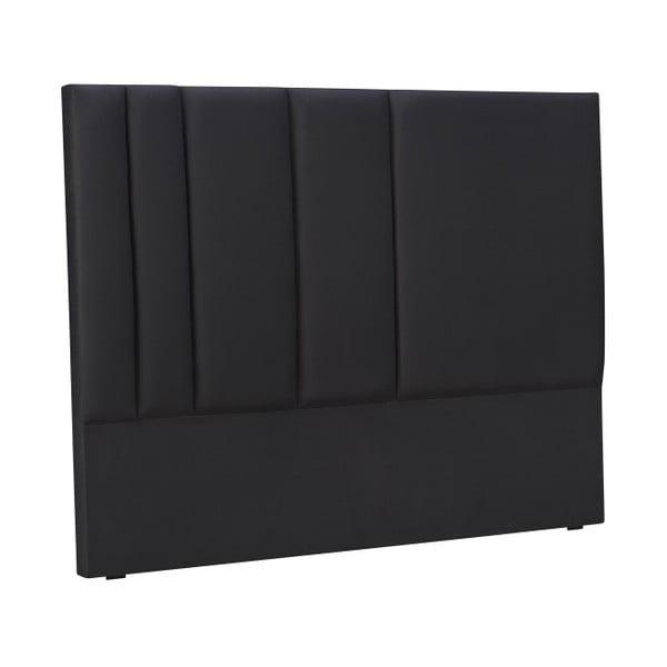 Černé čelo postele Mazzini Sofas Dahlia, 120 x 160 cm