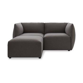 Canapea cu două locuri și șezlong Vivonita Cube, gri închis de la Vivonita