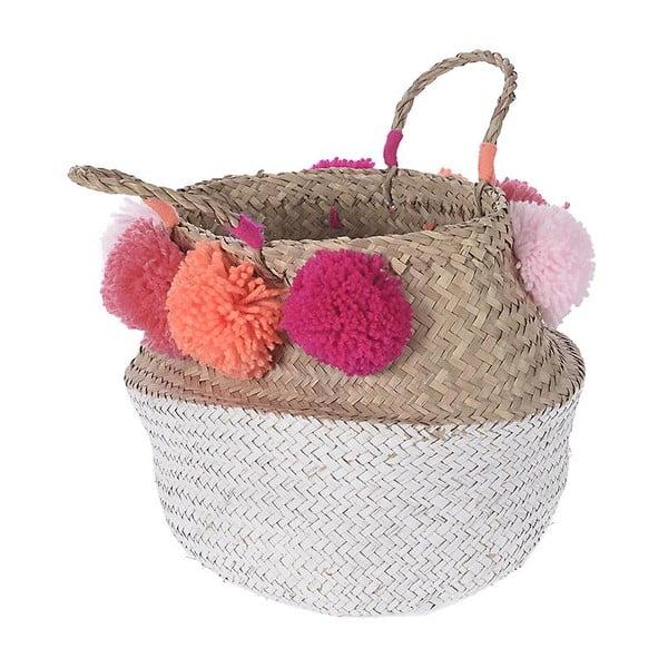 Pletený košík InArt Peach Pom Pom