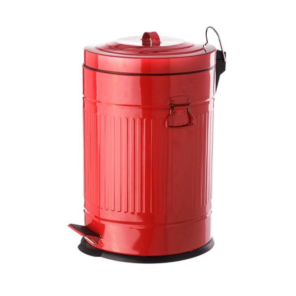 Coș metalic de gunoi Unimasa, 20 l, roșu