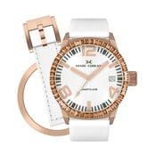 Dámské hodinky Marc Coblen s páskem a kroužkem navíc P96