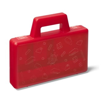 Cutie depozitare LEGO® To Go, roșu de la LEGO®