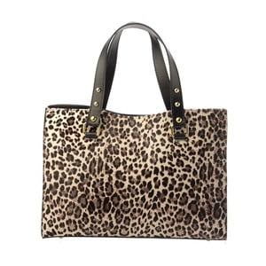 Geantă din piele Tina Panicucci Spotted Gepard