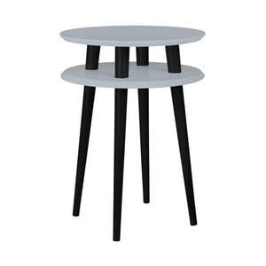 Tmavě šedý příruční stolek s černými nohami Ragaba UFO, Ø45cm