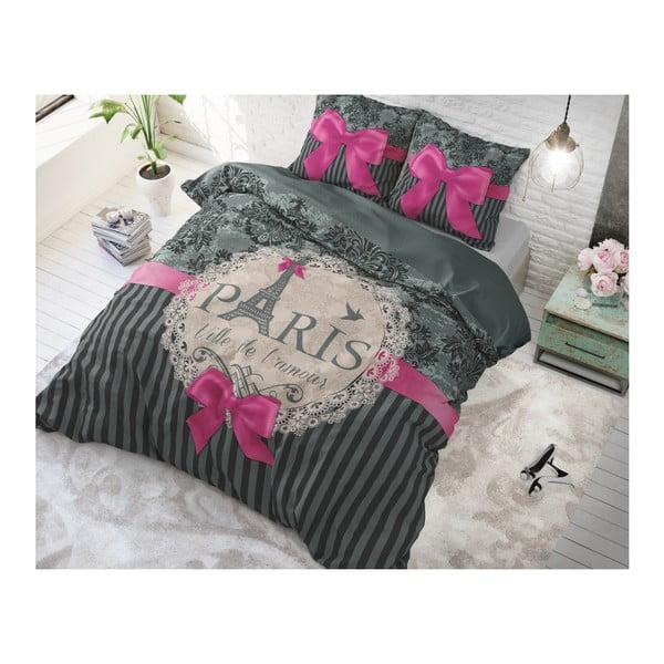 Bavlněné povlečení na jednolůžko Sleeptime Love Paris, 140 x 220 cm