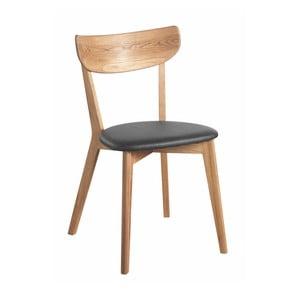 Dubová židle s černým sedákem Folke  Aegi