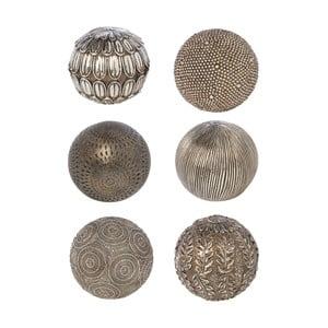 Sada 6 dekorativních koulí Bronze