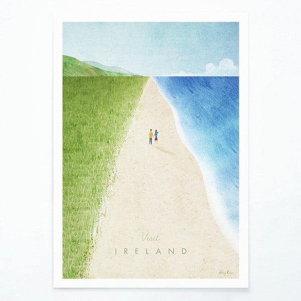 Plakát Travelposter Ireland, A2