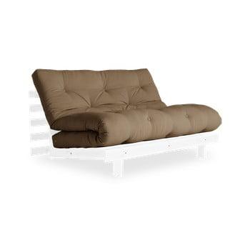 Canapea extensibilă Karup Design Roots White/Mocca