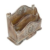 Stojan na dopisy z mangového dřeva Antic Line Letter Vintage