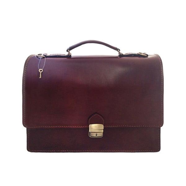 Kožená kabelka/kufřík Lambrusco, čokoládová