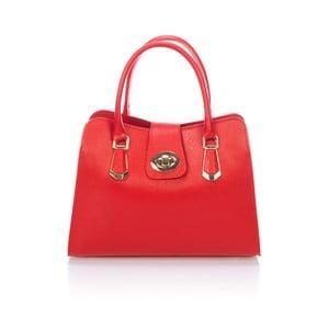 Červená kožená kabelka Lisa Minardi Dracula