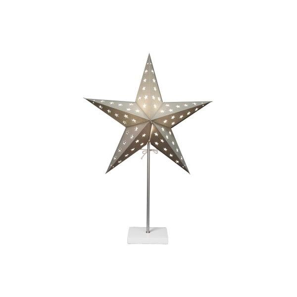 Svítící hvězda se stojanem Best Season Star On Base Silver