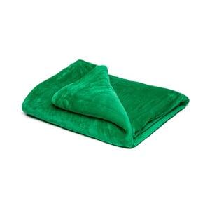 Zelená mikroplyšová deka My House, 150x200cm
