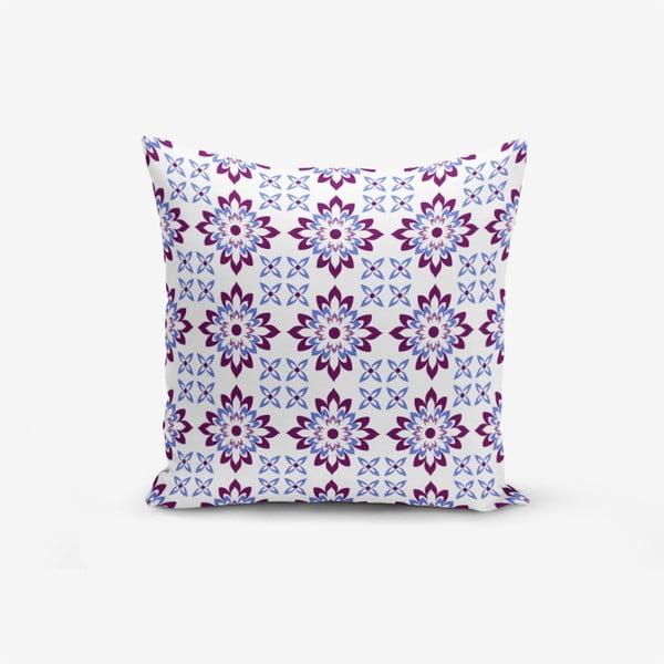 Față de pernă cu amestec din bumbac Minimalist Cushion Covers Modern Flower Mala, 45 x 45 cm