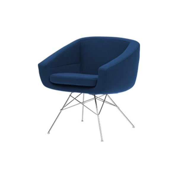 Ciemnoniebieski fotel Softline Aiko Felt Melange Dark Blue
