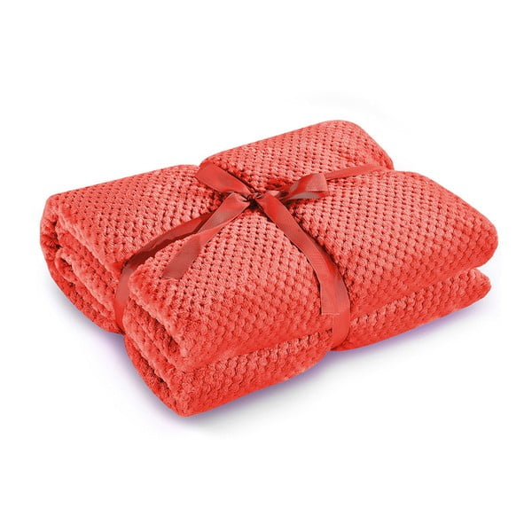 Czerwony koc z mikrowłókna DecoKing Henry, 150x200 cm