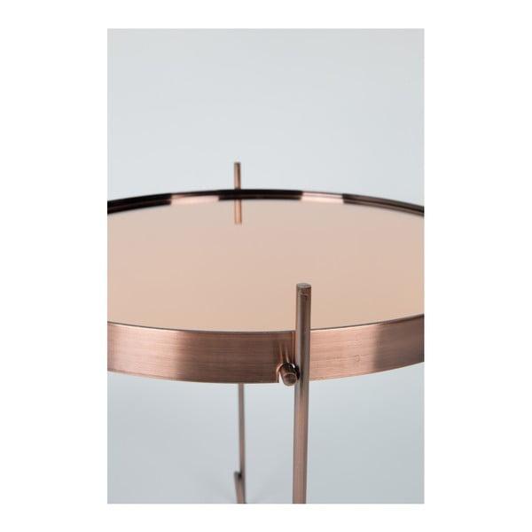 Příruční stolek v měděné barvě Zuiver Cupid
