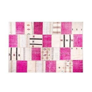 Vlněný koberec Allmode Kilim Pink, 150x80 cm