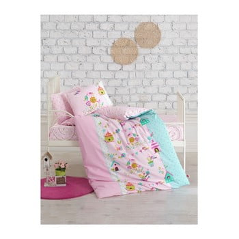Lenjerie de pat pentru copii Kuş Bahçesi, 100 x 150 cm de la Cotton Box