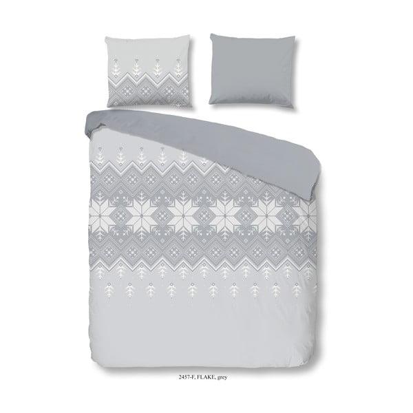 Flanelové bavlnené obliečky na jednolôžko Good Morning Flake, 140 × 200 cm