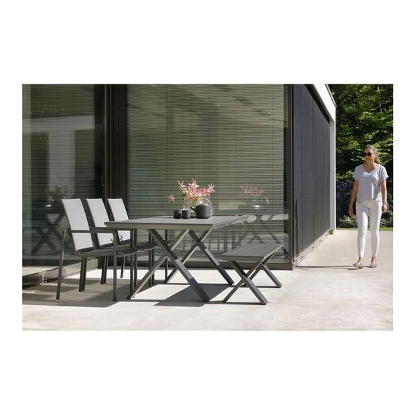 Tmavě šedá zahradní jídelní židle Hartman Annecy