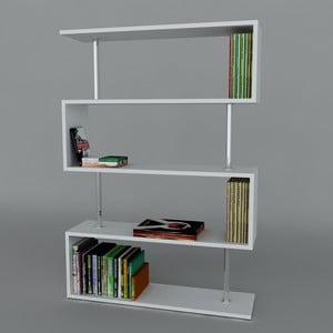 Knihovna Sunrise Book White, 22x90x129 cm