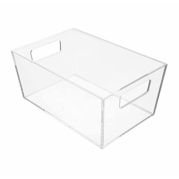 Úložný průhledný box iDesign Clarity, 22,8 x 15,2 cm