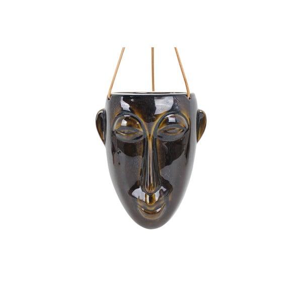 Ghiveci suspendat PT LIVING Mask, înălțime 22,3 cm, maro închis