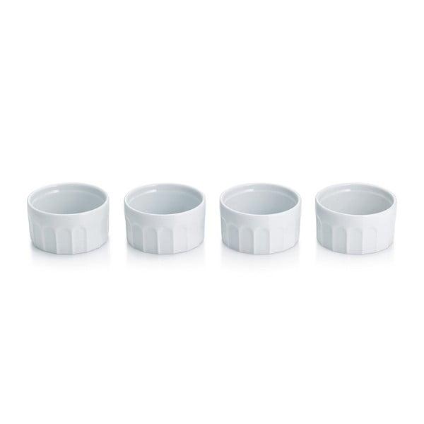 Sada 4 porcelánových misek na Crème brullée Maleen, 9 cm