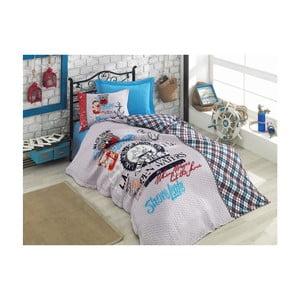 Lenjerie și cearșaf din bumbac pentru pat de o persoană Four Season, 180 x 230 cm