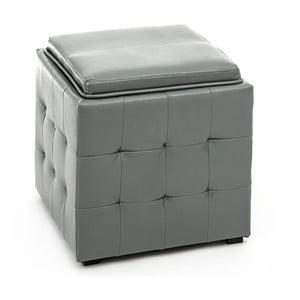 Šedý puf s úložným prostorem Tomasucci Case