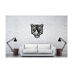 Černá nástěnná dekorace Oyo Concept Tiger, 50x45cm